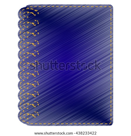Notebook simple sign - stock vector