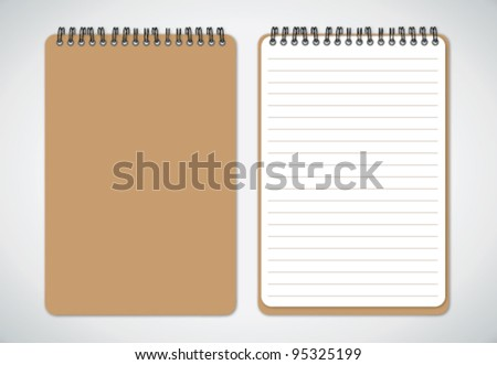 Notebook vector - stock vector