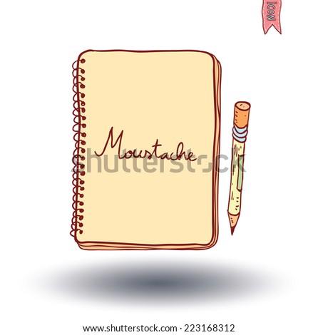 Notebook. Vector illustration hand drawn. - stock vector