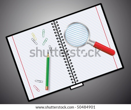 Notebook - vector illustration. very easy to edit vector file - stock vector