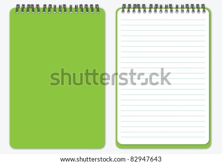 Notebook with cover - stock vector