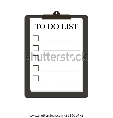 Notebook with to do list. Lines with check boxes. checklist for note. consent. check mark. election and voting - stock vector