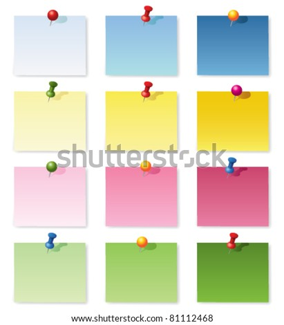 Notepad collection. Vector - stock vector
