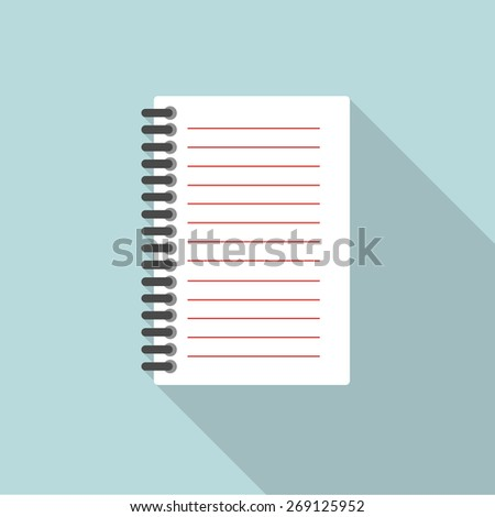 notepad flat icon. vector illustration - stock vector