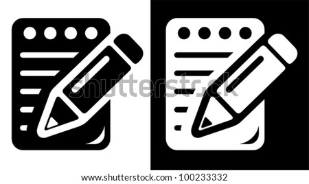 Notepad icon - stock vector