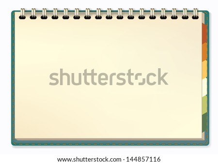 notepad Vector illustration