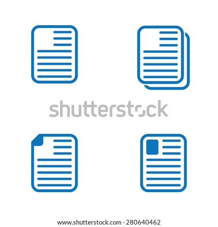 Notepaper icons - stock vector
