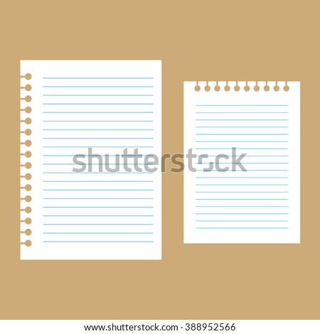 Notepaper with lines torn out, vector - stock vector