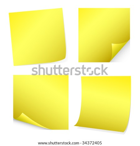 Notes , Stickers - stock vector