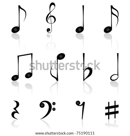 Notes. Vector illustration. - stock vector