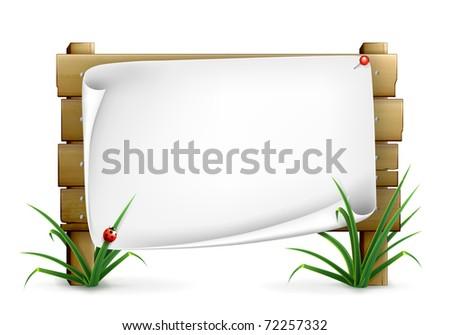 Notice board, 10eps - stock vector