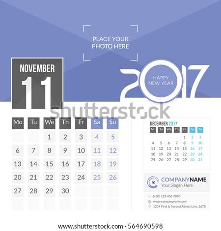 november calendar page