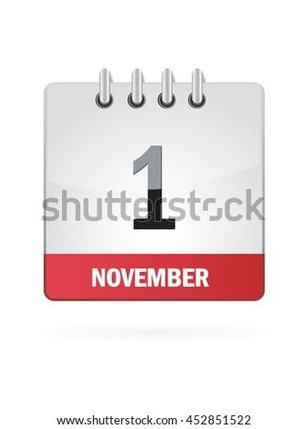 November One. Calendar Icon - stock vector