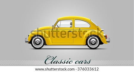 NOVI SAD, SERBIA - JANUARY 11, 2016: Vector illustration of Volkswagen Beetle