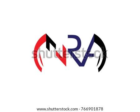 nra logo letter design vector stock vector 766901878 shutterstock rh shutterstock com nra logo history nra logon