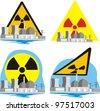 nuclear energy - nuclear hazard - stock