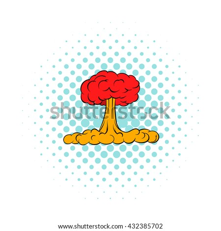 Nuclear explosion icon - stock vector