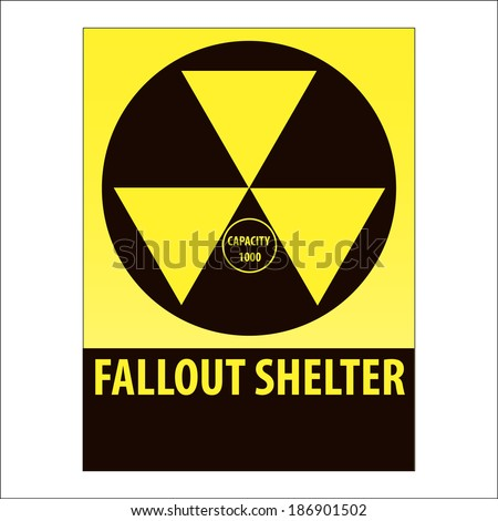 Nuclear Fallout Shelter Symbol - stock vector