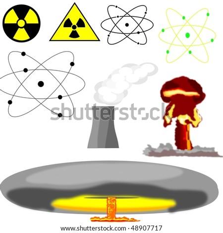 nuclear power - stock vector