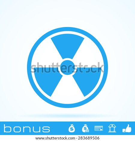 nuclear power icon - stock vector