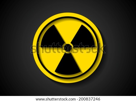 Nuclear radiation abstract symbol. Vector sign - stock vector