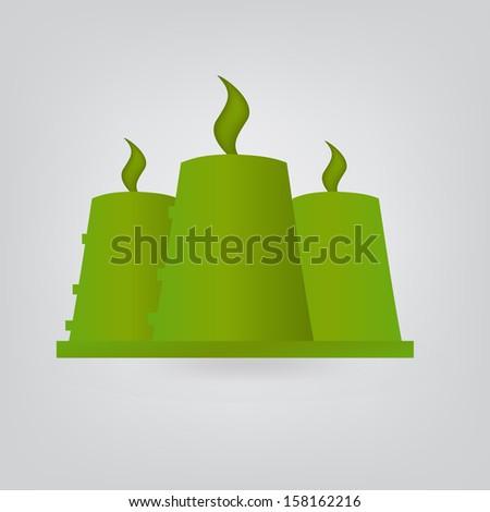 Nuclear reactor ecologic - stock vector