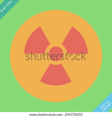 Nuclear sign representing the danger of radiation. - stock vector