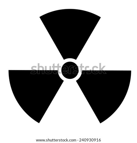 Nuclear sign. Vector illustration - stock vector