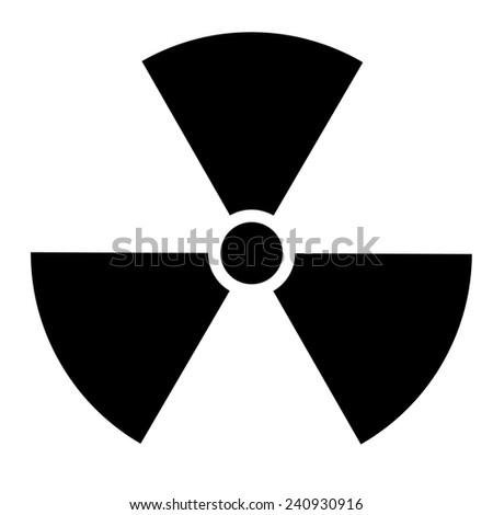 Nuclear sign. Vector illustration - stock vector