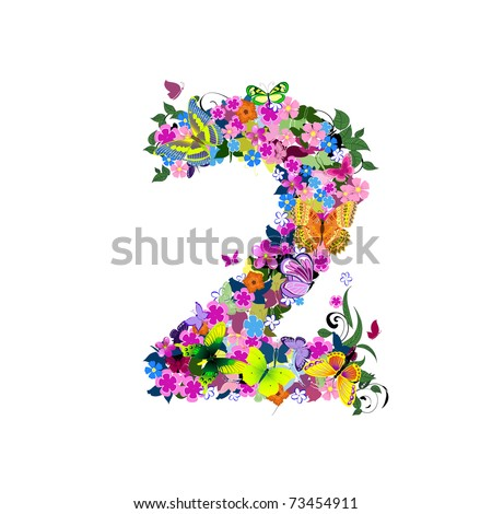 number 2 - stock vector