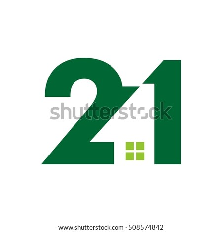 number 2 and 1 logo vector