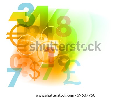 number decoration on the white - stock vector