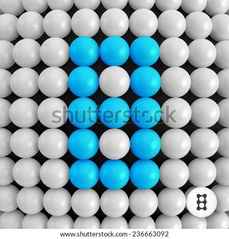 Number eight. Abstract mathematics background. 3d vector illustration.  - stock vector