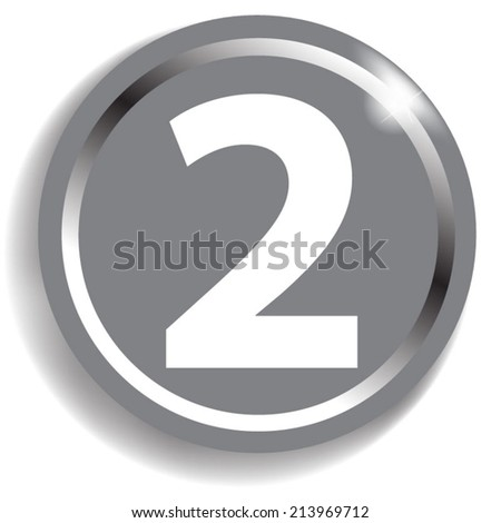 Number 2  icon - stock vector
