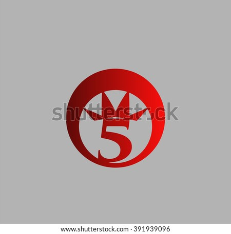 Vector Sign Number 5 Logo Stock Vector 311094668 ...