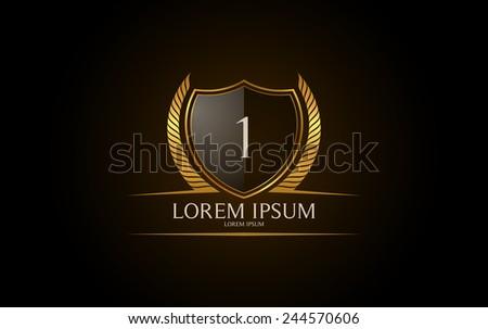 Number 1 logo. Vector logotype design. - stock vector