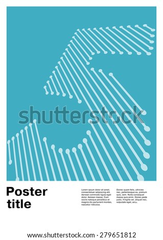 Number 5 on Swiss Poster - stock vector