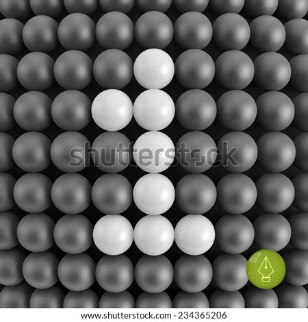 Number one. Abstract mathematics background. 3d vector illustration.  - stock vector