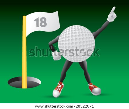 Number one golf fan - stock vector