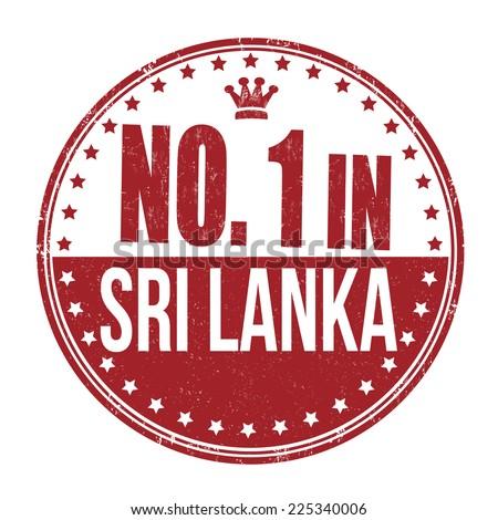 Number one in Sri Lanka grunge rubber stamp on white background, vector illustration - stock vector