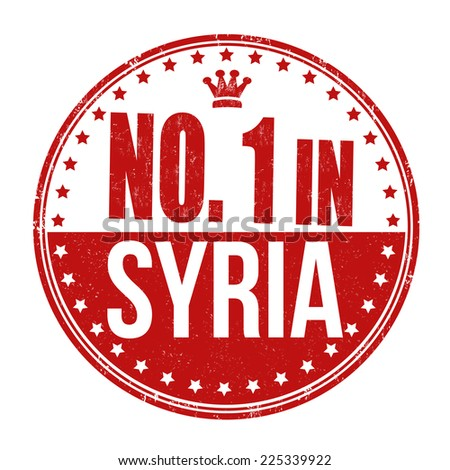 Number one in Syria grunge rubber stamp on white background, vector illustration - stock vector