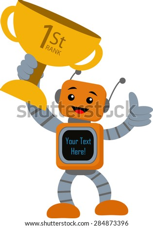 Number One Technology - stock vector