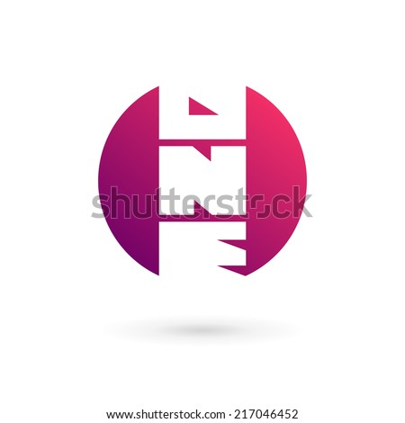 Number one 1 word logo icon design template elements. Vector color sign. - stock vector