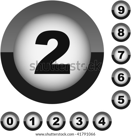Number set button. Vector collection.  - stock vector