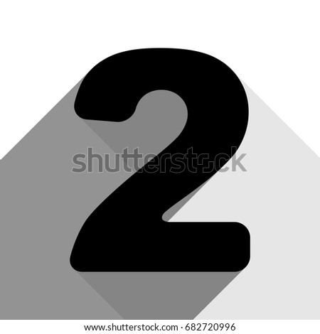 Number 2 sign design template elements stock vector 588314948 number 2 sign design template elements vector black icon with two flat gray shadows pronofoot35fo Gallery