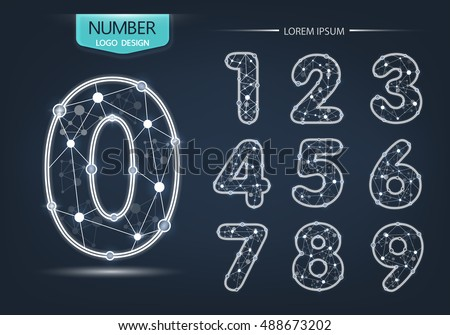 Number Template Set Numbers Logo Icon Stock Vector 488673202 ...