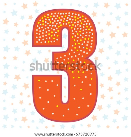 Number three birthday design template elements stock vector number three birthday design template elements maxwellsz