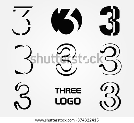 Number three logo logo 3 vector template stock vector 374322415 number three logologo 3 vector template maxwellsz