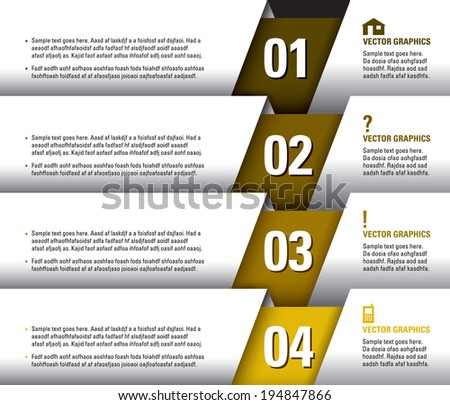 Numbered Banners. Eps10. - stock vector