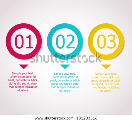 Numbered circles for design. Vector - stock vector